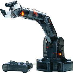 5つの関節を持つアーム型ロボット - ロボットアームは、組み立てや制御を通して、ロボットの基本と運動の原理を学べる5つの関節のアーム型ロボットキットです。専用…