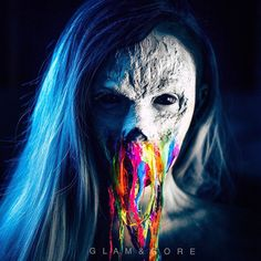 Glowing and Creepy Rainbow Neon Zombie Special Effects Makeup Tutorial Cool Halloween Makeup, Halloween Looks, Scary Halloween, Halloween Customs, Halloween 2020, Halloween Stuff, Horror Makeup, Zombie Makeup, Sfx Makeup