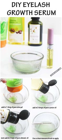 EYELASH GROWTH SERUM USING ALOE VERA