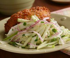 Apple & Fennel Slaw @Fine Cooking -- GREAT with grilled pork tenderloin, or pulled pork sliders!
