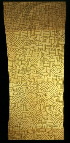 Africa | Woman's wrapper from the Kuba people of DR Congo | 20th century | Raffia; embroidered