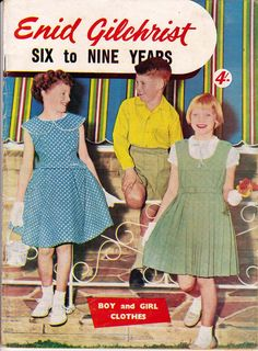 Vintage 50s Enid Gilchrist Pattern by allthepreciousthings on Etsy