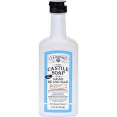 J.R. Watkins Hand Soap Castile Liquid Peppermint 11 oz