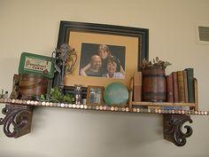 homemade shelf