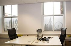 This frosted window film/manifestation is ideal  for disguising unsightly views outside office windows. www.jbhrefurbishments.co.uk