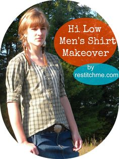 If you have some unused men's shirts that have been lying around your house, here is a fabulous redesign tutorial for you!!  One men's button shirt makes the most fabulous and stylish looking ladies' shirt, Kelly at RestitchMe provides the clear tutorial you will need for the project.  I just love the style of this top!!!!!!