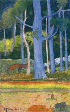 Paul Gauguin  Paysage Aux Troncs Bleus  Oil on Canvas  Painted in 1892