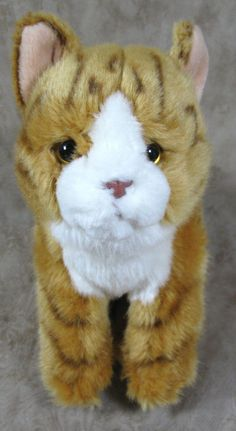 "Toys R Us Soft Plush Tabby Kitty Cat Orange 10"" Stuffed Animal Toy #ToysRUs"