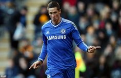 Game over: Fernando Torres scored Chelsea's second goal of the game against Hull to secure three points