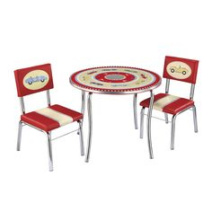 Guidecraft Retro Racers Table And Chairs Set is awesome, this will get you in the racing mood.Guidecraft Retro Racers Table And Chairs Set Kids Table Chair Set, Kid Table, Kids Room Furniture, Outdoor Furniture Sets, Retro Furniture, Bedroom Furniture, Retro Table, Diner Table, Kids House