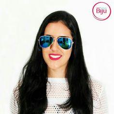 O  óculos  aviador sempre  estiloso e nunca  sai da  moda!  As  celebridades  amam! 👸👜💄 www.minhanovabiju.com.br  #minhanovabiju #acessoriosfemininos #acessorios #oculosdesol #protecaouv400  #oculosaviador #oculosfashion  #style #lojaonline #moda #verao2017 #salvadorbahia #enviamosparatodobrasil