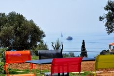 Breakfast Garden with Sea View - Leivatho Hotel Sea, Spaces, Gallery, Breakfast, Garden, Morning Coffee, Garten, Roof Rack, Lawn And Garden