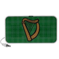#Irish Celtic Harp #Saint Patricks Day/ Everyday #iPod Speakers