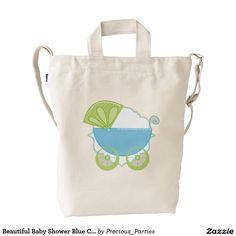 Beautiful Baby Shower Blue Carriage Duck Bag