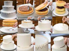 Resultado de imagem para bolo dois andares como fazer