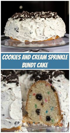 Cookies and Cream Sprinkle Bundt Cake for #BundtBakers from Sew You Think You Can Cook