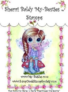 """Sherri Baldy My Besties """"""""Wee Winged One Sparkle"""""""" Clear Stamp"""