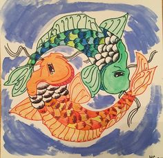 A personal favorite from my Etsy shop https://www.etsy.com/listing/399394353/koi-pond-yin-yang
