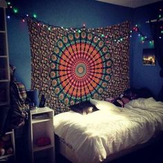 shop dorm room tapestry wall hanging indian bohemian bedspread coverlet decorative mandala curtains hippie beach blankets on sale. we offer mandala yoga mats. Kids Room Curtains, Dorm Room Walls, Room Wall Decor, Bedroom Decor, Bedroom Inspo, Bohemian Dorm, Bohemian Bedspread, Bohemian Tapestry, Indian Tapestry