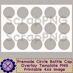 ScrapPNG: My Free Bottle Cap Template Download