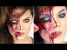 Halloween Zombie Makeup tutorial (with subs) - Linda Hallberg Makeup Tutorials - YouTube