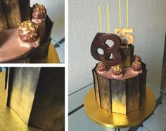 Gold Ferrero Rocher duet cake #ferrerorocher #duet #cake #cakeit Ferrero Rocher, Cake, Gold, Design, Home Decor, Decoration Home, Room Decor, Food Cakes, Cakes