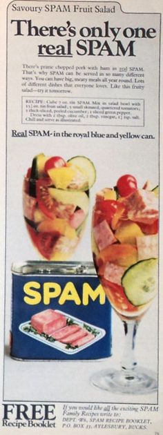 There's only one real SPAM.  (Note, I do not like SPAM, but somehow I was crowned the SPAM Queen by my friends in college.  This made me think of them :)