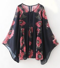 If you are customed to form your own style, you definitely cannot miss this  batsuit! The loose design especially the sleeve provides a sense of elegance and floral printing represents feminity. More clothes are waiting for you at Cupshe.com!