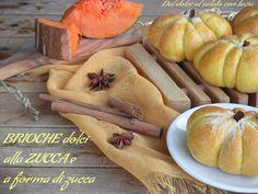 Brioche+dolci+alla+zucca+(a+forma+di+zucca)