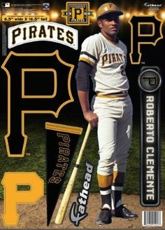 pittsburgh pirates roberto clemente fathead teammate Case of 6 Pittsburgh Pirates Baseball, Pittsburgh Sports, Baseball Art, Sports Baseball, Baseball Players, Mlb Players, Pittsburgh Penguins, Pirate Pictures, Baseball Pictures