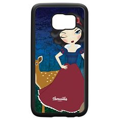 Snow White Black Silicon Rubber Case for Galaxy S6 by Gadget Glamour  FREE Crystal Clear Screen Protector >>> To view further for this item, visit the image link.