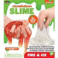 Nickelodeon Fire and Ice Glitter Slime Kids Science Project Gooey Gift Set - Red - Walmart.com Science Projects For Kids, Science For Kids, Slime For Kids, Glitter Slime, Christmas Gifts For Kids, Fire And Ice, Kids Toys, Birthdays, Walmart