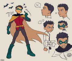 Cutest brattiest baby Robin. Damian Wayne.