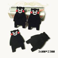 50pcs 36*23MM Janpan Cartoon Character Kumamon Flatback Resin Planar Kawaii Bear Resins DIY Craft For Home Decorations DL-714