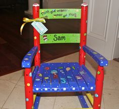 Childs Custom Painted Rocking Chair