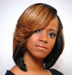 Hair Weave Bob Hairstyles Black Women - See more stunning hairstyles at SherrysLife.com!