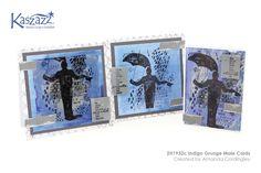 2H1932c Indigo Grunge Male Cards