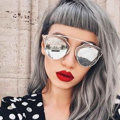 frisurentrends 2020 70 Shades of Grey Haarfarbe Ideen und Inspiration, # # Frauenfrisuren # Frisuren Hair Inspo, Hair Inspiration, Pelo Color Plata, New Hair, Your Hair, Grey Wig, Gray Hair, Grey Hair Fringe, White Hair