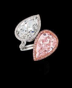 Leviev pink and white teardrop diamond ring « Yara's Way Events