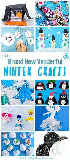 Bored of the same old Winter craft ideas? Here's 20+ BRAND NEW WONDERFUL WINTER CRAFTS not to be missed! Grab the kids for a fun and frosty craft time.