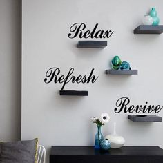 Sweet Letters Reflesh Revive Relax Wall Stickers For Home Decoration