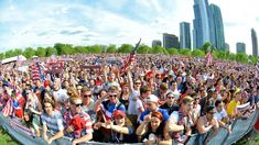 #USMNT Fans Watch USA Beat Ghana in Chicago's Grant Park