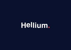 Hellium is a web and social media agency based in Bogotá, Colombia. In the logo, which is a simple sans serif type, it can be seen how some letters are a bit floating, this reminds of not only the gas itself, but also the cloud, the internet and things up…