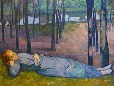 BERNARD Emile,1888 - Madeleine au Bois d'Amour - DENIS on BERNARD artworks in 1943 : « Adresse du pinceau. Il avait, dès ses débuts, le sens de la composition et il a toujours su bien remplir sa surface. Son dessin est resté ce qu'il était, décoratif, inventé, stylisé. Il a changé de manière, mais il a toujours été un maniériste. » (DENIS, Journal, 1943)