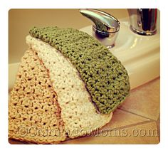 Forgot how much I like these crocheted organic cotton washcloths. Easy to make; great for babies, large and small.