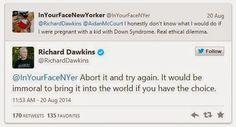 Dawkins defende 'decisão lógica' de abortar feto com Down