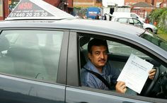 Muslim khan has passed his driving test in Garretts green test centre.