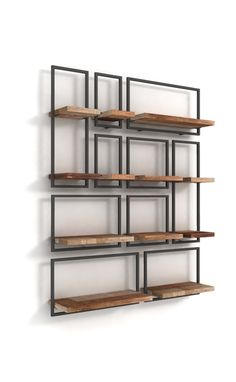 Give free rein to this extraordinary creativity! Make your own wall decoration. SHELFMATE is . Iron Furniture, Steel Furniture, Industrial Furniture, Home Furniture, Furniture Design, Small Space Interior Design, Interior Design Living Room, Interior Decorating, Wood Shelves
