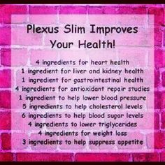 Plexus Slim is a tool to help you live a healthier life. http://cassandraorobertson.myplexusproducts.com