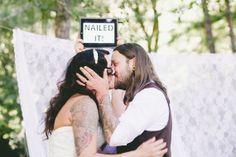 How cute is that?!  Indie Santa Cruz wedding   photo by One Love Photo   100 Layer Cake